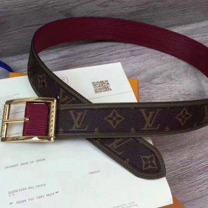 Replica Louis Vuitton M9007N reverso 40mm monogram macassar Belts